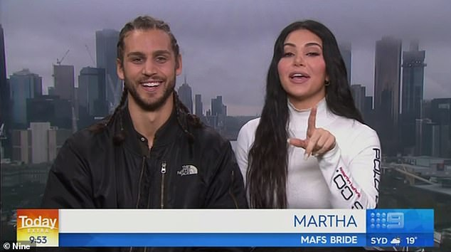 Breaking news: On Monday, Michael Brunelli and Martha Kalifatidis appeared on Today Extra to discuss his upcoming charity head shave - but the chat was focused around Martha's selfies