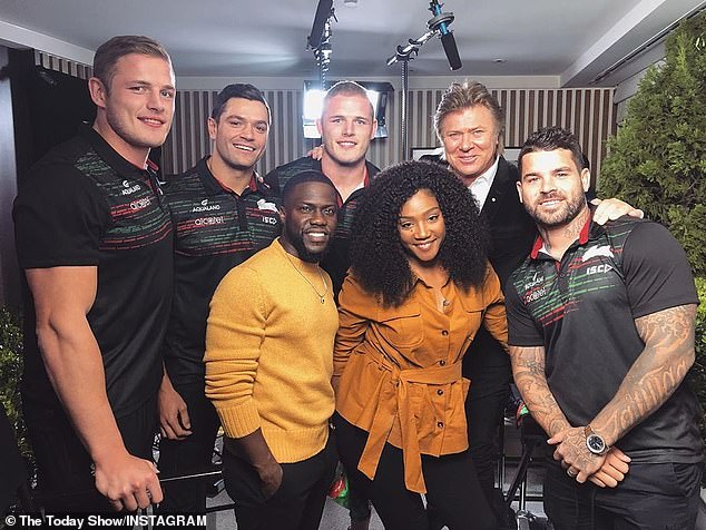 Not so VIP: Richard Wilkins also interviewed Kevin and Tiffany for Today - but did not manage to get them into the studio and had to settle with a pre-record