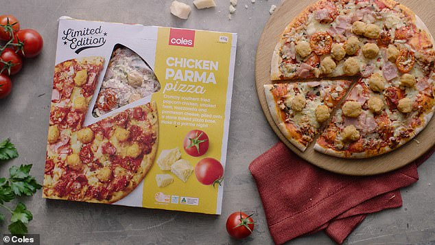 Australian supermarket giant Coles has created the 'chicken parmigiana pizza', retailed at $5