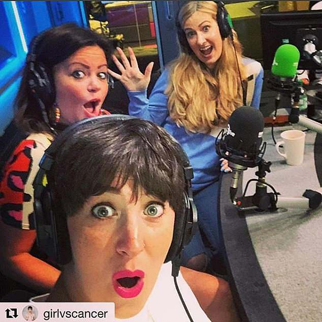 Deborah presents Radio Five Live podcast 'You, me and the Big C' - pictured here with co-presenters Racheal Bland (right), who passed away in September 2018, andLauren Mahon (middle)