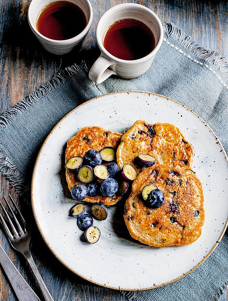 These amazing blueberry pancakes are the perfect treat to share as a family and can be paired with sliced banana