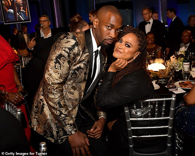 Having some fun: Jay Pharoah struck a pose alongside Ava DuVernay