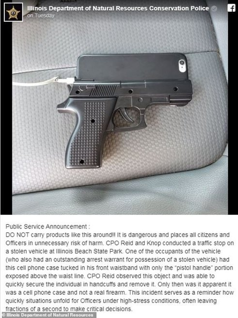 Cops in Illinois are urging people not to carry iPhone cases that are designed to look like guns