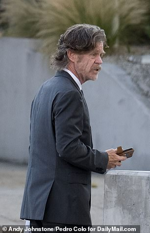 William H. Macy is seen attending his daughter Sophia's graduation in Hollywood