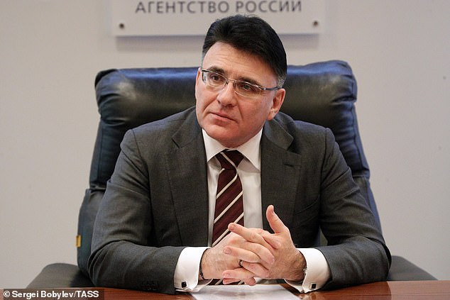 Of the ten VPN providers instructed to connect to Russian censorship systems, only Kaspersky complied, Roskomnadzor chief Aleksandr Zharov (pictured, on December 18, 2018) told Interfax