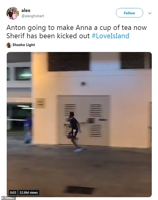 Making his move? Another fan noted that Anton would be taking things over with Anna now that she was without a partner in the villa