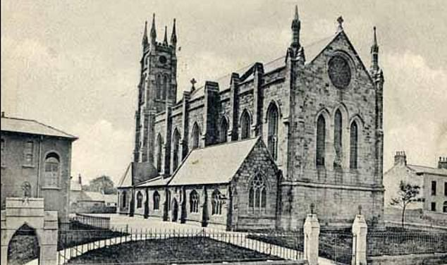 Pictured: John Baptist Church, where most babies from Temple Hill were baptised before being adopted