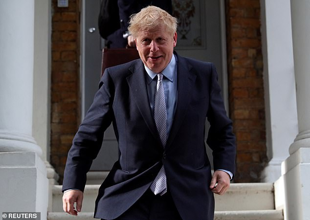 Boris Johnson (pictured leaving his London home today) has been boosted by a fresh round of endorsements after the Tory contest kicked off for real, including from Iain Duncan Smith