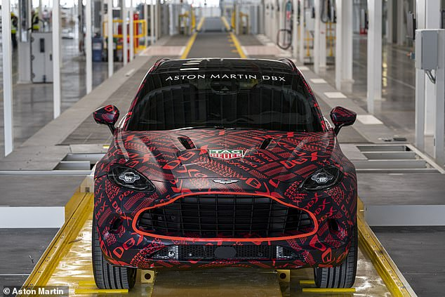 Aston Martin's new factory is open: The first pre-production Aston Martin Lagonda DBX crossover has come off the assembly line at the St Athan facility in Wales
