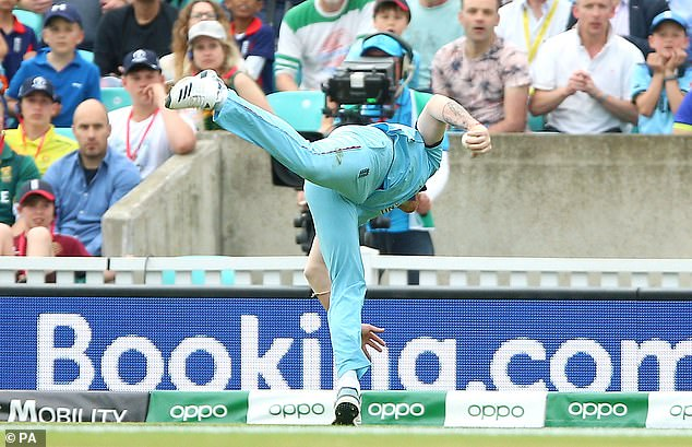 Ben Stokes'remarkable catch on the opening day of the World Cup went viral on social media