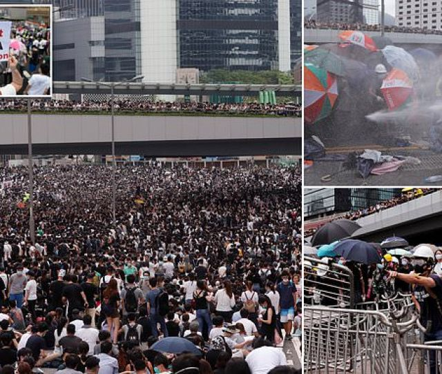 Clashes Break Out As Demonstrators Paralyse Hong Kong In Protest Against Extradition Law