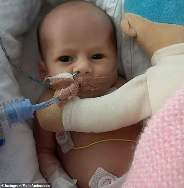 Malin's baby daughter Consy was born seven weeks premature in December 2018 but sadly passed away aged four weeks on January 22 last year