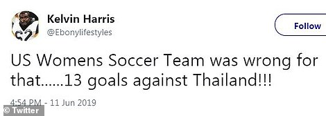 Many Twitter users were unhappy with the scoreline