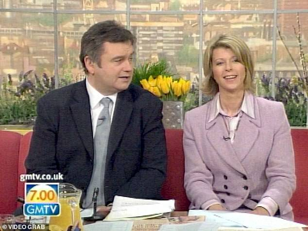 Kate Garraway, presented here presenting an edition of GMTV with Eammon Holmes, completes the triumvirate implicated by a source close to McVey for his quarrel with Lorraine Kelly
