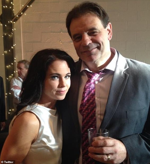 Posters supporting Mr controversial CFMEU boss John Setka(pictured with wife Emma Walters) came about after he tried to contest Anthony Albanese's attempt to remove him from the Australian Labor Party