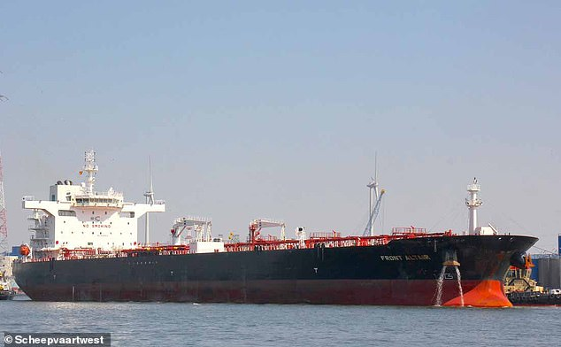 The Taiwanese oil refiner which chartered the Altair Front (file photo) said the ship was 'suspected of being hit by a torpedo'