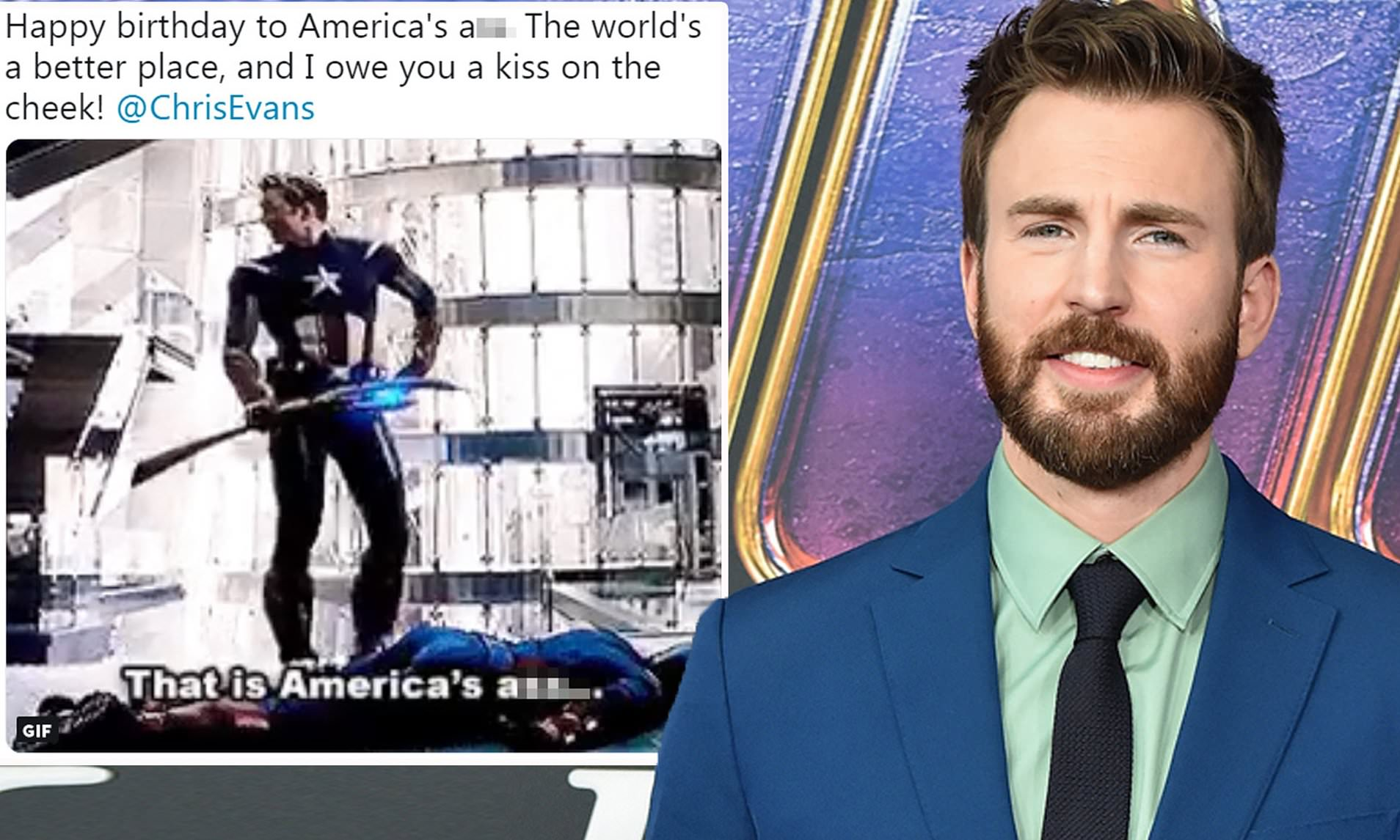Robert Downey Jr Wishes Chris Evans A Happy Birthday With A