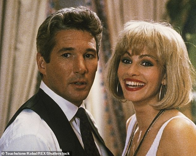 The Pretty Woman that made it to the big screen sees prostitute Vivian (Roberts) fall in love with her businessman client Edward (Gere)
