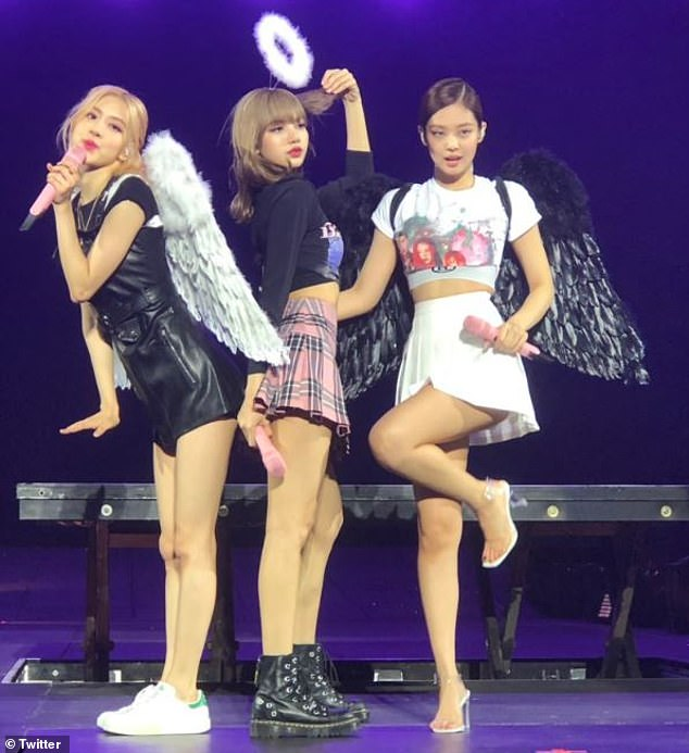 'This is defamation!' Furious K-pop fans have called for Channel Nine to apologise to BLACKPINK (pictured), after airing footage from their Sydney concert in a drug bust report