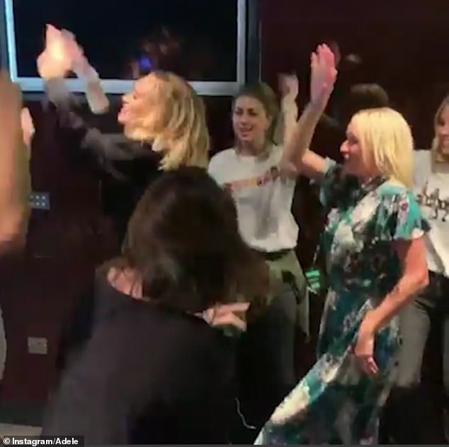 Time to party! Adele posted shots of herself at the after-show shindig for the Spice Girls's final UK and Ireland date on Saturday night