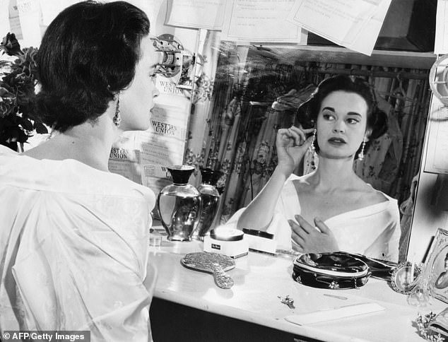 A 30-year-old Vanderbilt is shown in 1954. At the time, she had been married twice