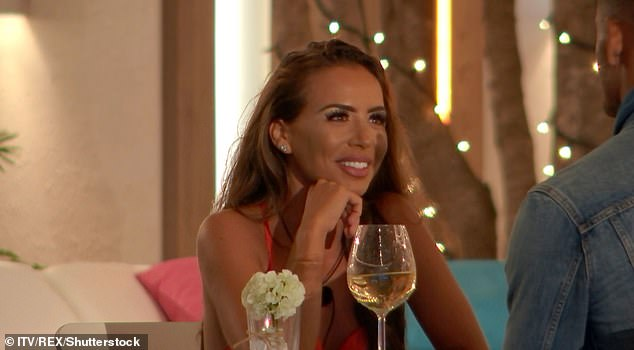 Elma enjoyed a glass of white wine during her date with Danny on this year's Love Island