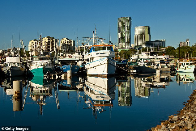 Sydney and Melbourne were far from Australia's only struggling cities with prices falling by 4.2 per cent in Darwin (pictured), to hit $472,500