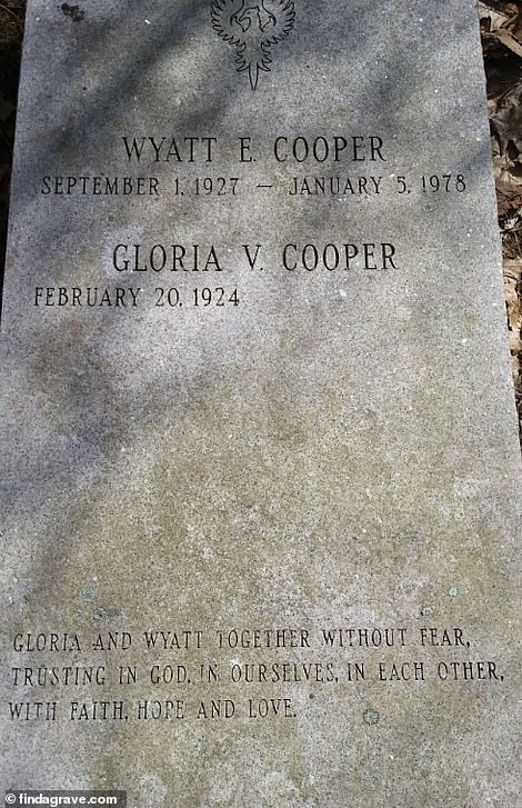 Together again: Vanderbilt's gravestone in the family tomb on Staten Island
