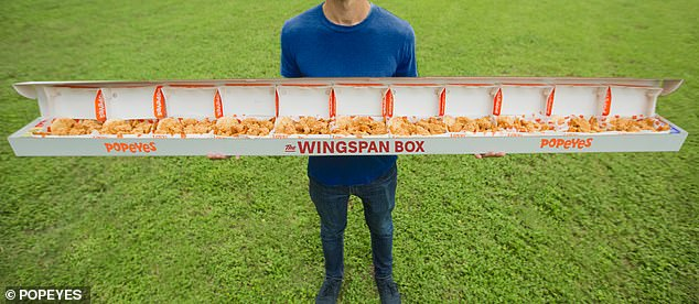 This chicken's got reach: In June Popeyes Louisiana Kitchen celebrated the NBA draft with a new 'Wingspan Box'