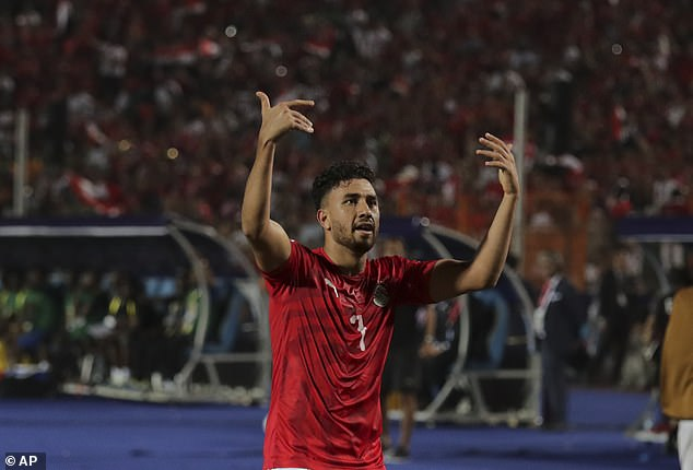 He celebrates after getting Egypt's home Africa Cup of Nations campaign up and running
