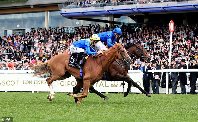 Blue Point (right) achieved a historic King's Stand and Diamond Jubilee Stakes double