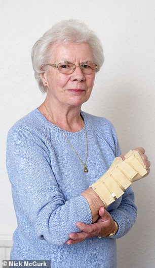Susan Halbert, 83, from Newton Mearns, Renfrewshire, fell outside her home and broke her arm in two places
