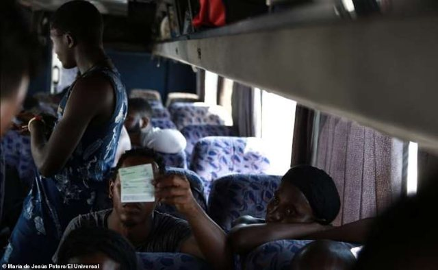 Since late 2018, Mexico has seen an influx of migrants from Haiti, Cuba and Africa that have crossed its southern border with Guatemala in hopes of reaching the northern border crossing with the United States to seek asylum. Pictured above are migrants on a bus in Mexico
