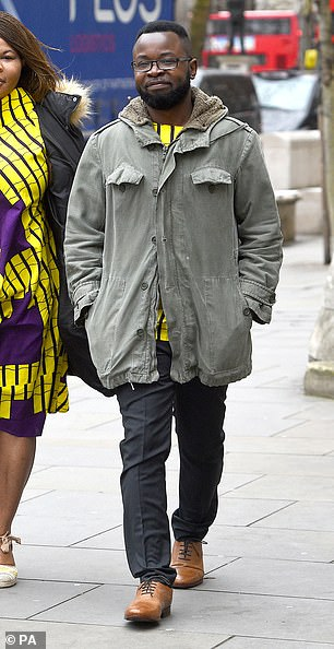 Felix Ngole, 40 (pictured), has won an appeal against his expulsion from Sheffield University after expression a traditional Christian view. He took to Facebook and posted 'homosexuality is a sin' in 2015. On Wednesday, three Court of Appeal judges overturned the 2017 ruling saying university bosses should reconsider