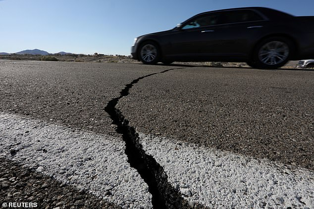 Thursday's earthquake struck in the morning, cracking roads, causing fires and downing power lines, although no serious injuries reported were reported