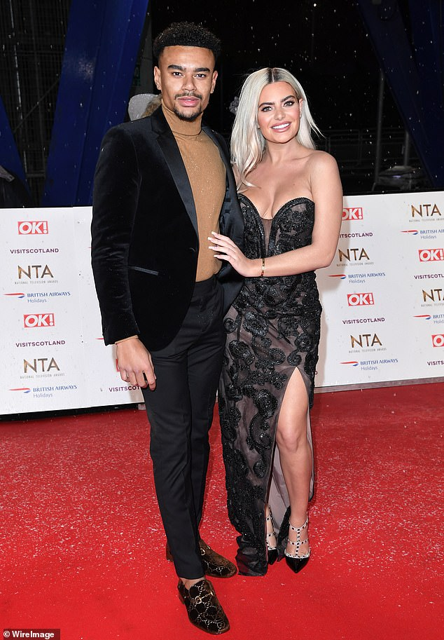 Awkward: Megan has been officially single since she split from her Love Island co-star Wes Nelson after a very public spat ended led to their split (pictured in January this year)