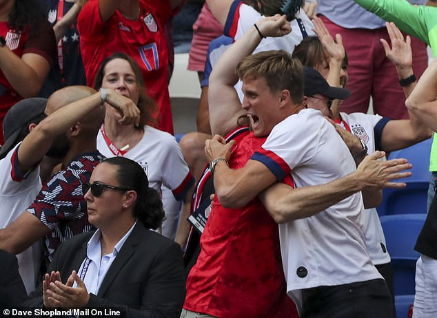 Proud parents and partners go wild as US Women's Soccer Team