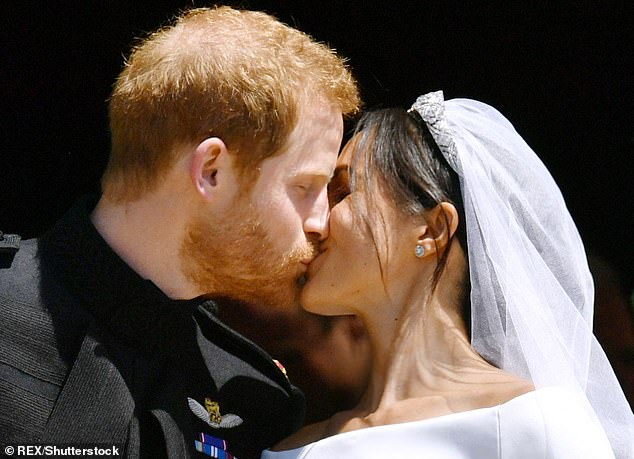 Marriage: The Duke and Duchess of Sussex wed on Saturday 19th May last year at St George's chapel with the whole royal family in attendance, along with many celebrities guests