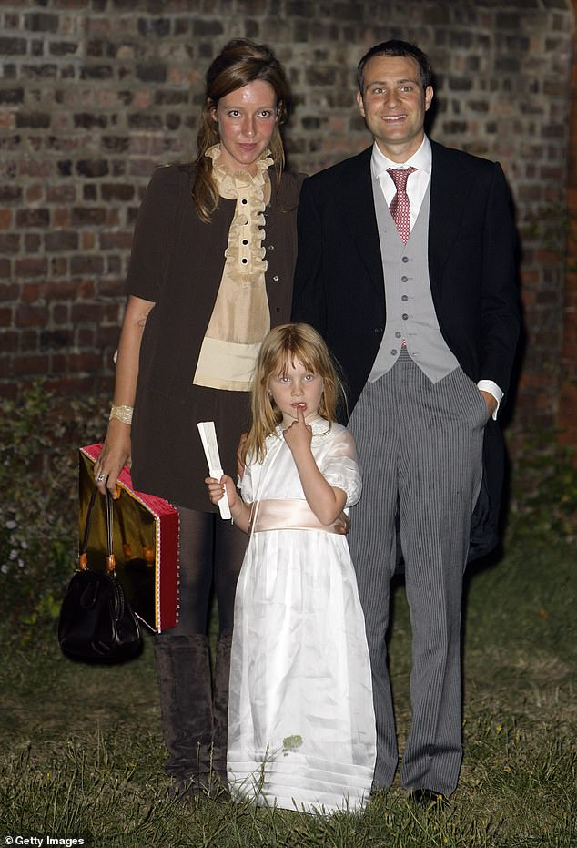 Iris (pictured with her mother and father) heir to two of Britain's, and the world's most powerful dynasties, the Goldsmith and Rothschild families worth an estimated £ 300 million