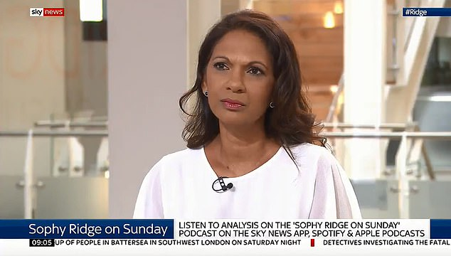 Anti-Brexit activist Gina Miller (pictured by Sky News today) has threatened to sue to prevent a prime minister from suspending parliament to force non-exchange