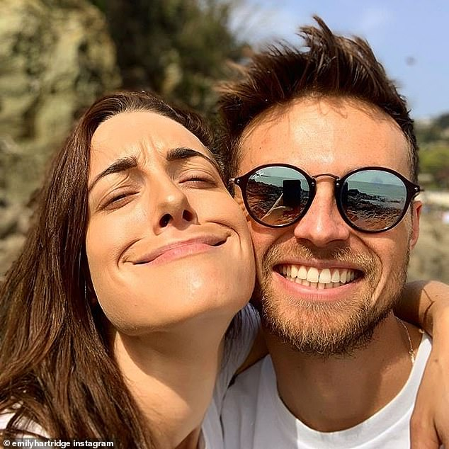 Emily with her boyfriend Jacob Hazell. She wrote about him in May saying: 'Jake is incredible and I feel beyond grateful to have him in my life'