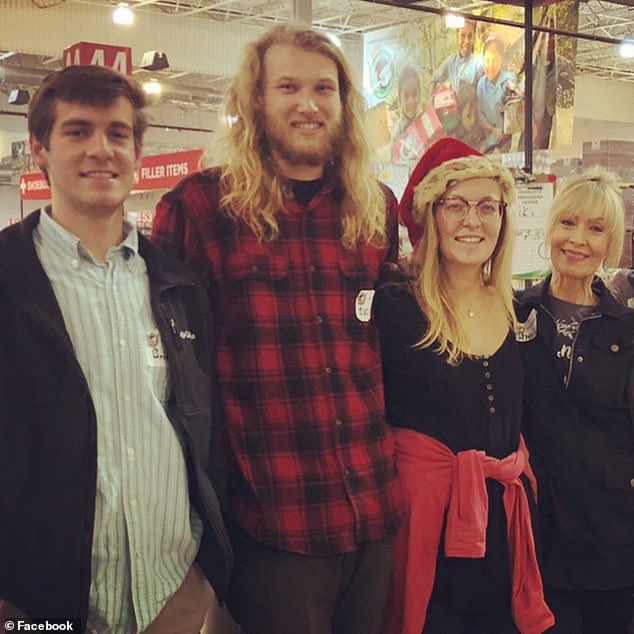 Lucas Fowler and Chynna Deese (in the center) are depicted with Signora Deese's mother (right) and her brother (left). The couple was traveling by road across Canada when their bodies were found on Monday