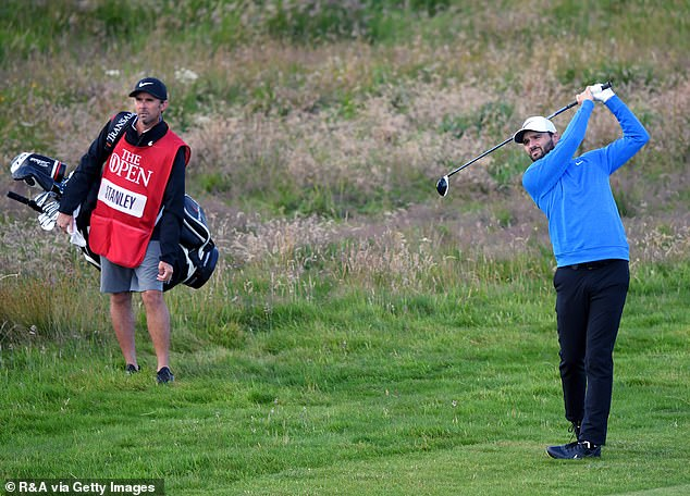 The American hit a marshal and also MacIntyre's caddie's mum during play on Friday afternoon