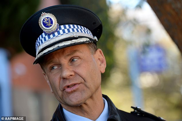 NSW Police Commissioner Mark Jones spoke to the media outside the Sutherland Police Station in Sydney on Saturday