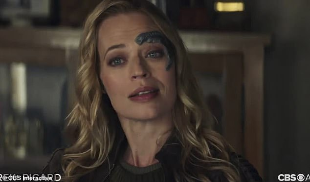 Comeback: The trailer also sees more familiar faces returning, including Seven of Nine, played by Jeri Ryan
