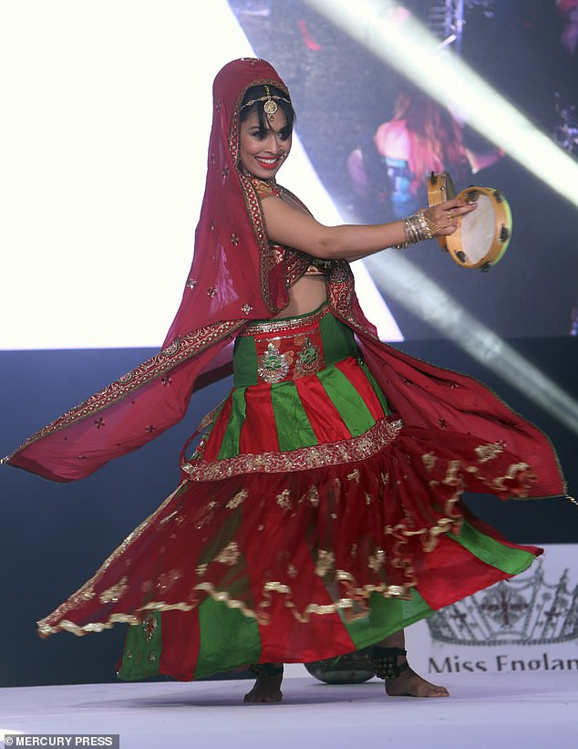 Basha Mukherjee performing in the talent section of last night's final