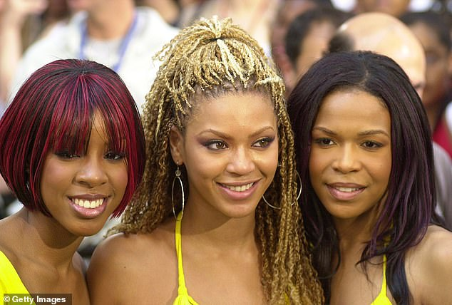 Way back when: Although Destiny's Child decided to take a hiatus in 2005, they are still friendly (pictured in 2001)