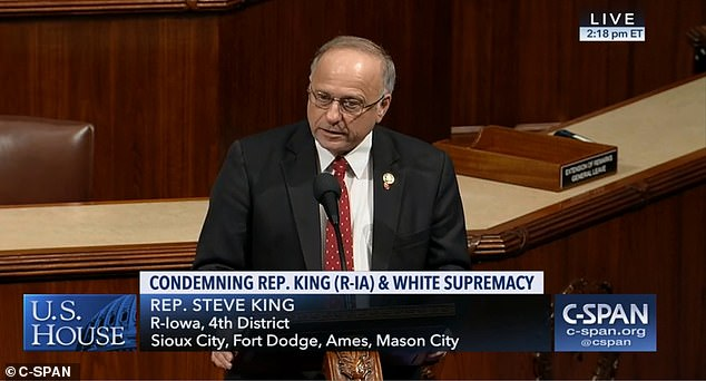 Steve King was removed from his committee commissions after comments, and he voted for a resolution that condemns itself