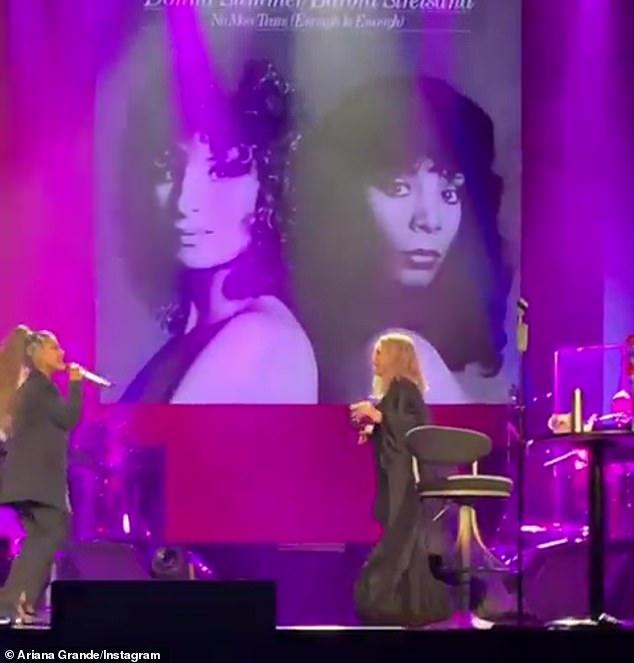 Ariana Grande surprises the crowd at Barbra Streisand's