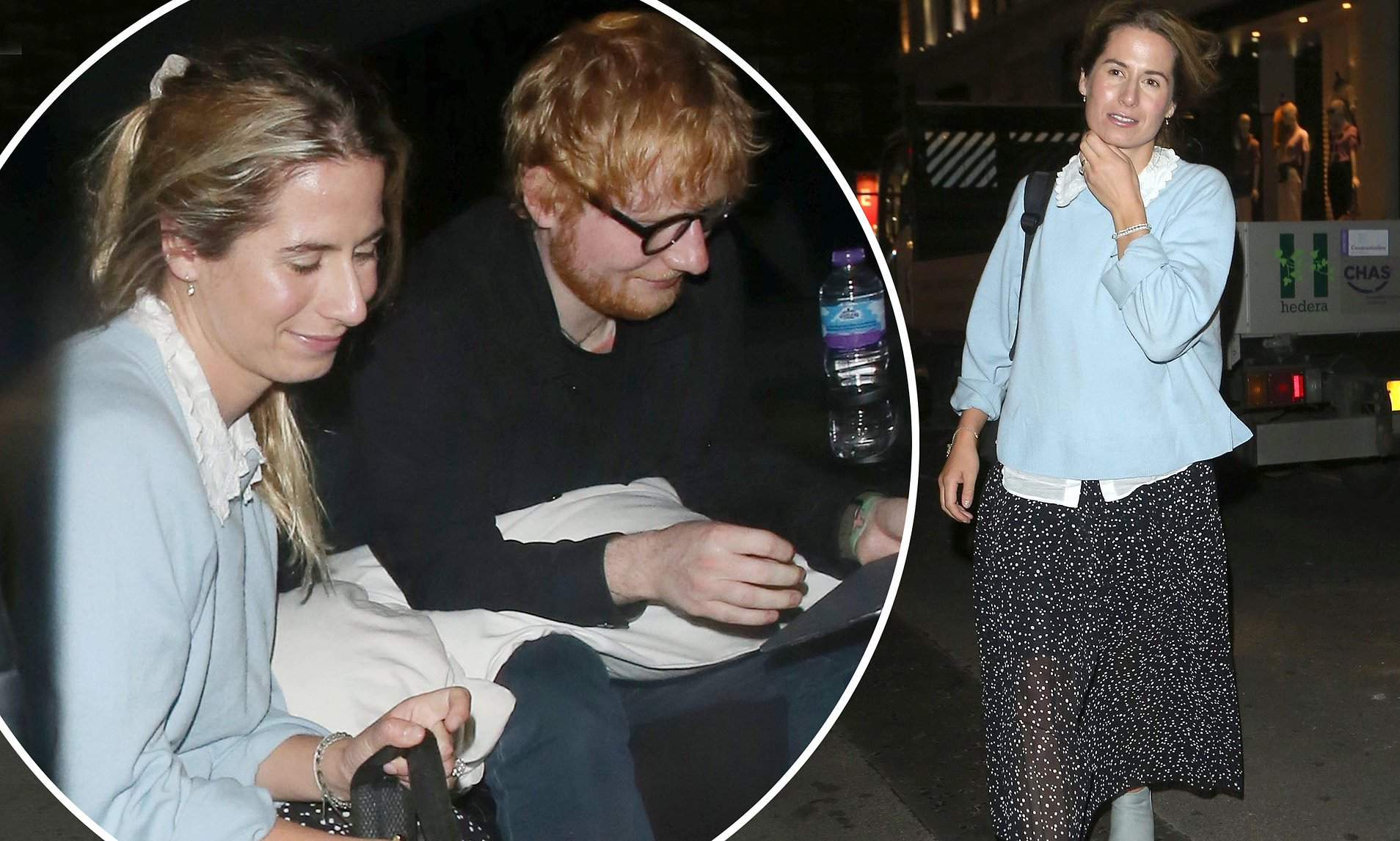 Ed Sheeran And Wife Cherry Seaborn Enjoy Rare Date Night Daily Mail Online